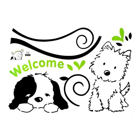 welcome wall sticker cat welcome wall stickers removable wall decal