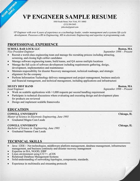 Engineering Resume Tips search results for sles of science projects