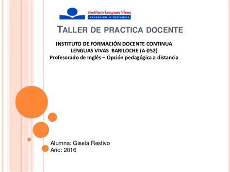 cursos capacitacion docente jujuy 2016 instituto lenguas vivas bariloche restivo diagn 243 stico