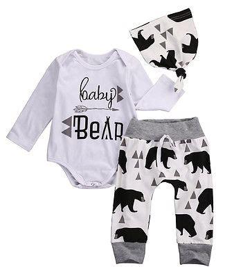 Aliexpress Buy 2016 3pcs Infant 3pcs 2016 Baby Boysclothes Letter Pattern Sleeve Romepr Hat 3pcs Suit Newborn