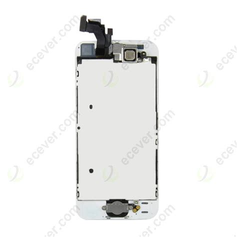 Lcd Iphone 5 White front lcd screen with home button and parts for
