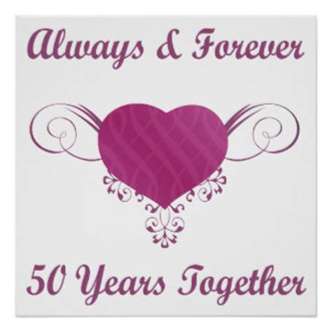 Wedding Anniversary Wishes Posters by 50th Wedding Anniversary Posters Zazzle