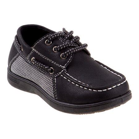 little boys boat shoes josmo little boys black lace up cushioned footbed boat