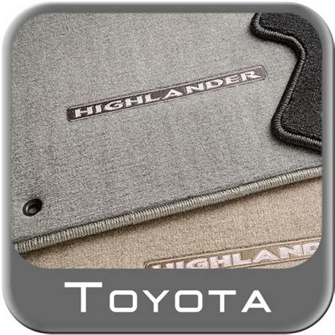 2008 Toyota Highlander Floor Mats by 2008 2011 Toyota Highlander Carpeted Floor Mats Ash Gray