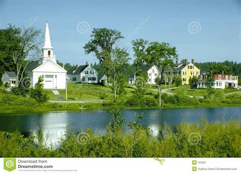 Small Lake House Plans new england village stock photos image 41843