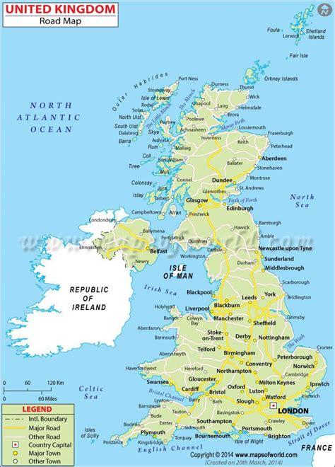 printable road map of britain great britain map detailed map of great britain