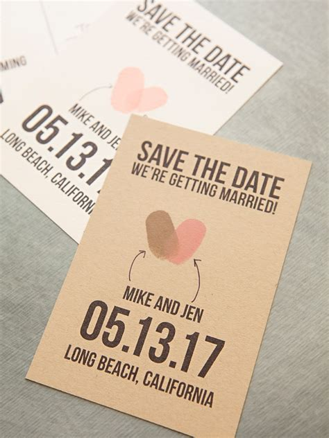 make your own save the date cards free make your own thumbprint save the dates