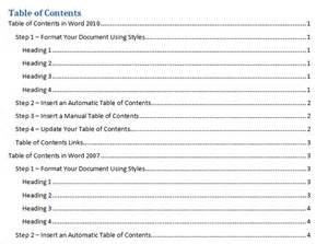 Create Table Of Contents In Word 2010 by Best Photos Of Create Table Contents How To Do Table Of