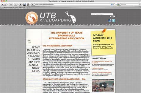 Ut Brownsville Mba by Utb Kiteboarding Website 187 Web Design Portfolio Sheetz