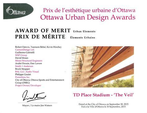 design competition list td place stadium veil wins urban design award