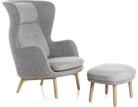 designer chairs ro lounge chair and ottoman hivemodern com