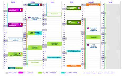 Calendrier National Calendrier National Des Comp 233 Titions 2017 2018 183 Planetgrimpe