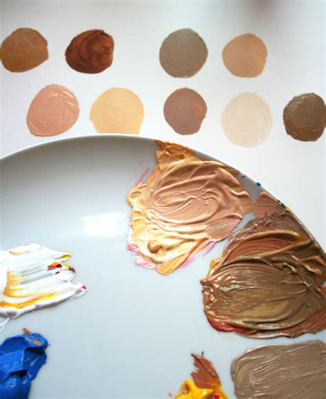 an easy method for mixing paint for skin tones
