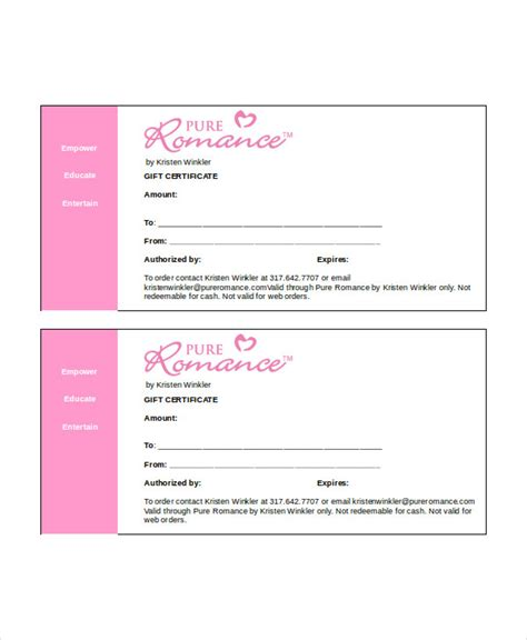 gift certificate template word 8 free word documents