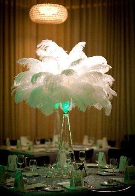 Feather Vase Centerpieces by Feathers Ostrich Feathers And Feather Centerpieces On