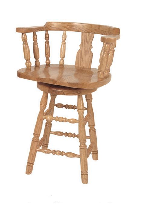 Standard Bar Stool Height For 36 Counter by Amish Grandfather S Captain S Swivel Barstool