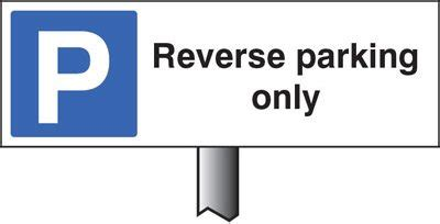 verge sign reverse parking only 450x150mm (post 800mm