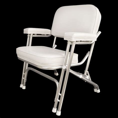 custom white boat folding deck chair seat 75001w ebay