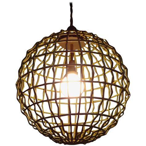 Large Orb Chandelier Large Industrial Mid Century Modern Orb Pendant Chandelier For Sale At 1stdibs