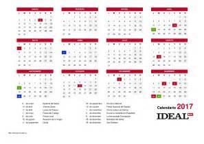 Calendario Festivo 2017 Calendario Festivo De 2017