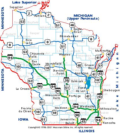driving map of wisconsin wisconsin road map pdf hubrutracker