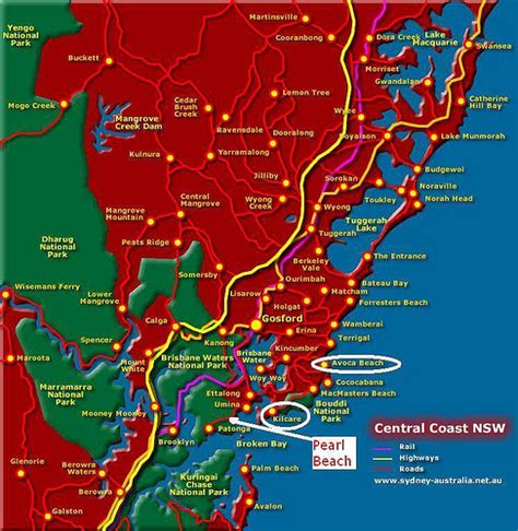 map of central coast map of nsw central coast a lizating flickr