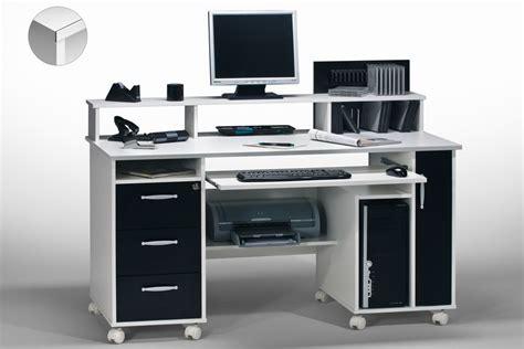 schreibtisch 1 10m computertisch in schwarz wei 223 mit tasterturauszug und