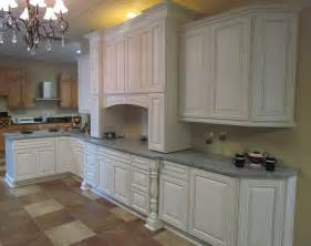 White Cabinets Kitchen charleston cherry saddle and antique white kitchen