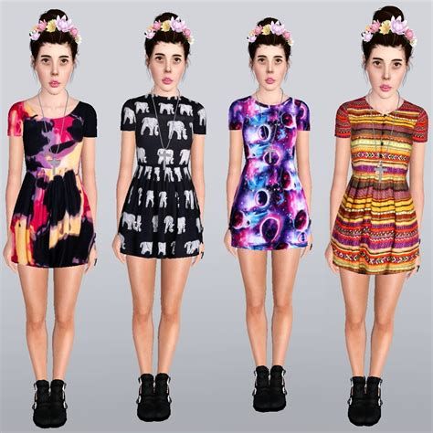 my sims 3 comfortable slag dresses by ilikeyourfacesims