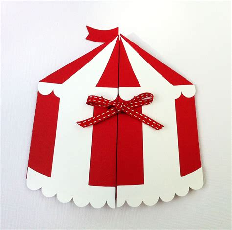 Circus Tent Template Card by Circus Tent Invitation Folder Circus Carnival Birthday
