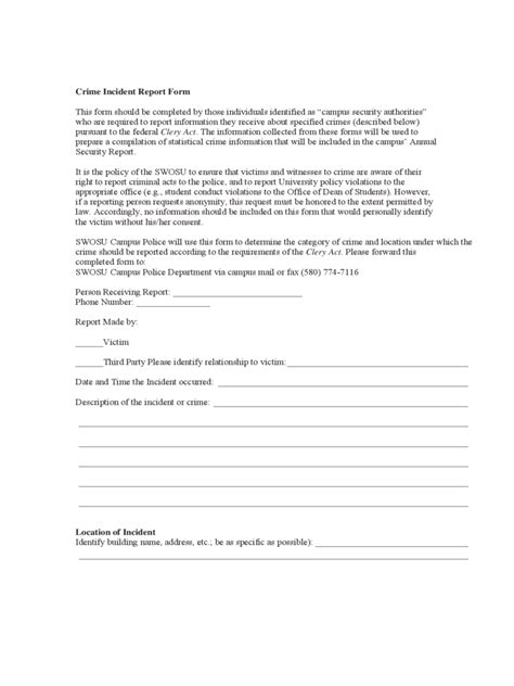 Hotel Incident Report Letter Incident Report Form 3 Free Templates In Pdf Word Excel