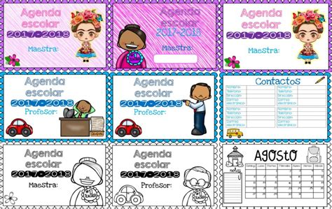 descargar pdf agenda escolar 2017 18 maria hesse libro estupendas agendas en horizontal para maestros y maestras a color y blanco y negro educaci 243 n