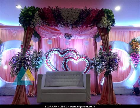 wedding dekoration wedding reception decoration at subalakshmi thirumana