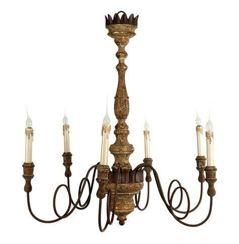 European Chandeliers Wallace European Rustic 6 Light Curled Iron Arm Chandelier Kathy Kuo Home
