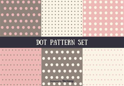dot pattern system pink and brown vector dot pattern set download free