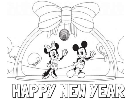 mickey mouse new years coloring pages printable new year coloring pages