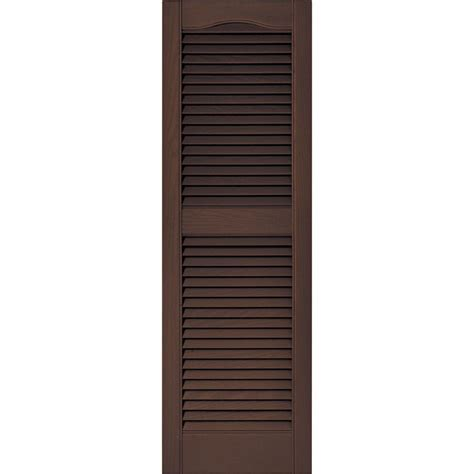 builders edge 15 in x 72 in louvered vinyl exterior
