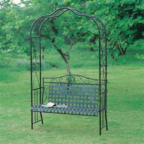 metal arbor with bench wrought iron arbor bench for the home pinterest