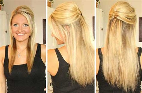 jennifer aniston half up half down hairstyles prom hairstyles for long straight hair down hairstyles