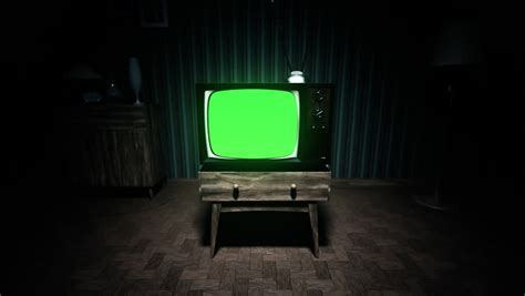 green tv 01550 authentic static on old fashioned tv screen at home stock footage video 6864208 shutterstock