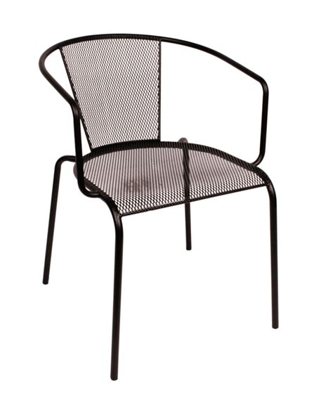 steel armchair indoor outdoor caf chair w galvanized steel micro mesh
