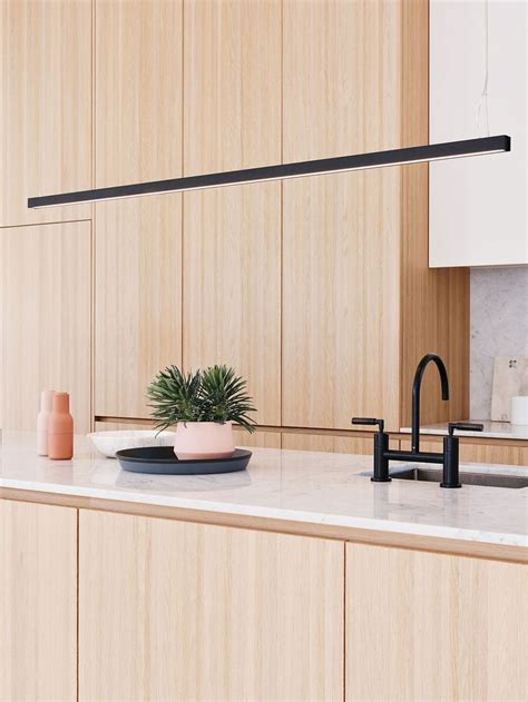 black kitchen lighting ledlux strix led 2400 lumen dimmable pendant in black