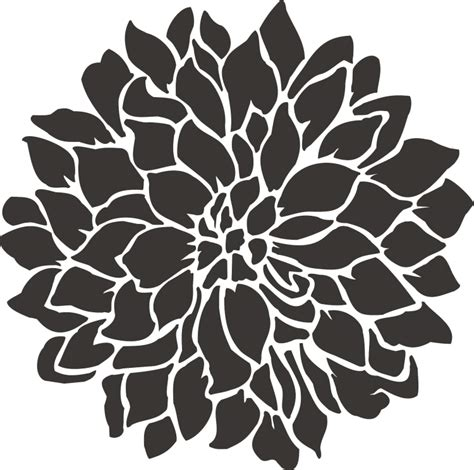 Stencil 3 Flowers painting stencil large dahlia flower stencil walls