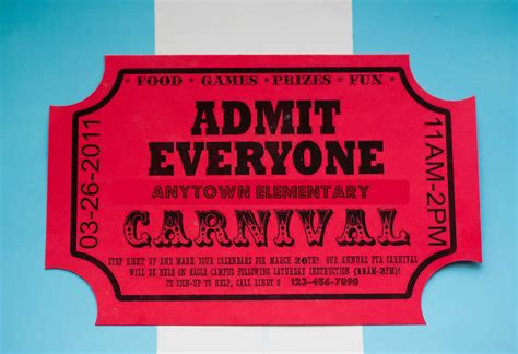 carnival ticket template carnival flyer templates invitations ideas