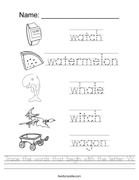 Letter W Worksheets by Image Gallery Letter W Worksheets