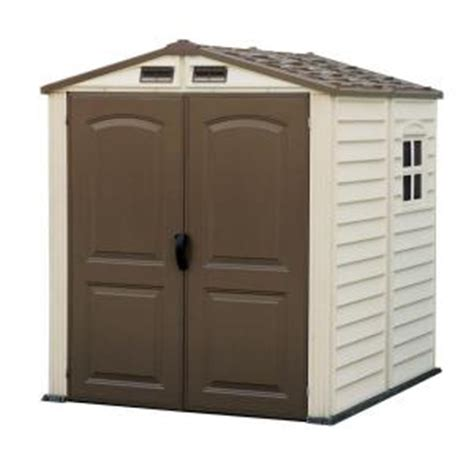 Vinyl Sheds Home Depot by Duramax Building Products Woodside 6 Ft X 6 Ft Vinyl