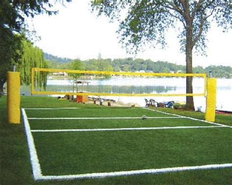 backyard volleyball net system how to construct a volleyball court lake life