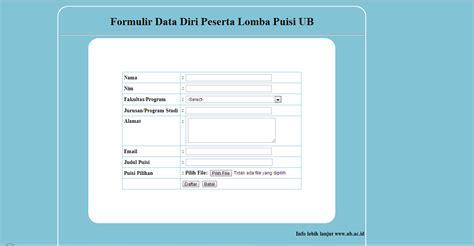 membuat html formulir membuat formulir pendaftaran menggunakan php halima s blog
