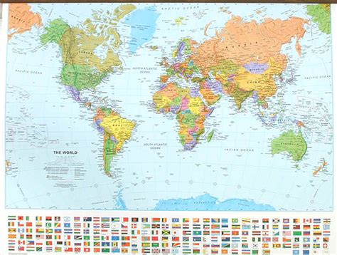 world map cities and states world map with world flags for all un member countries