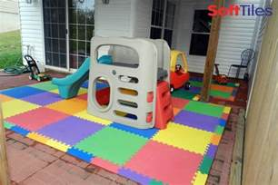 outdoor patio cushioned children s play mat using